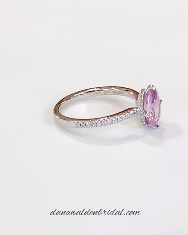 Zinnia 1.5ct Lilac Sapphire & Diamond <br/> Engagement Ring