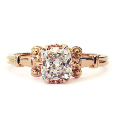 Ethical Edwardian-style engagement ring. Handmade with conflict-free diamonds.
