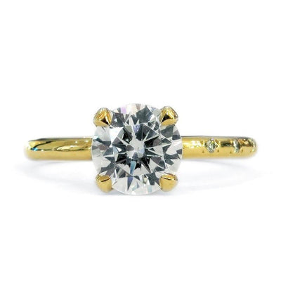 Lab diamond engagement ring by Dana Walden Jewelry.