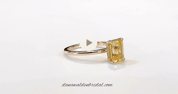 Dascha 2.12ct Yellow Sapphire <br/> Engagement Ring