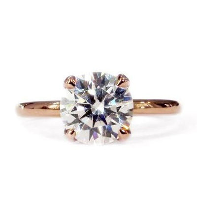 Lab diamond version of Dana Walden classic Astrid solitaire engagement ring.