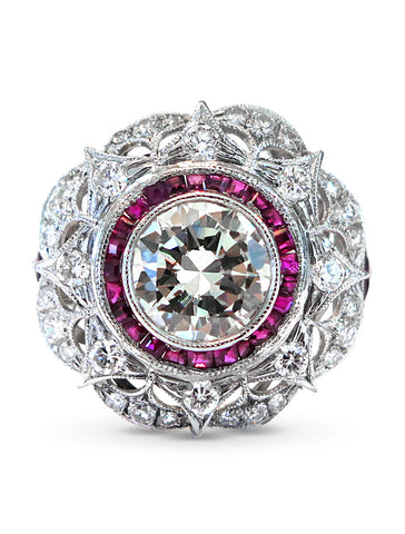 vintage diamond and ruby ring holiday gift guide