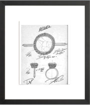 MARQUESA Engagement Ring Sketch (Framed Print)