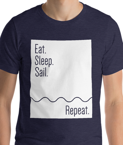 Eat. Sleep. Sail. Repeat. | Men's Premium T-shirt