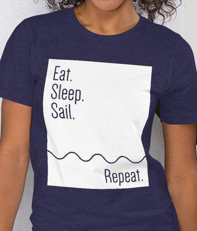 Eat. Sleep. Sail. Repeat. | Women's Premium T-shirt