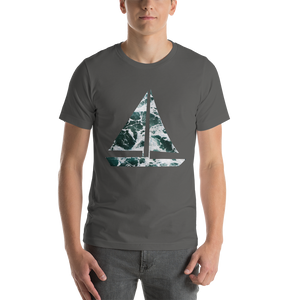 Yacht Waves Pattern | Men's Premium T-Shirt