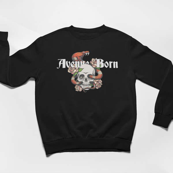 Red Viper Sweatshirt - Black - Avenue Born