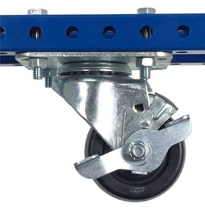 "3"" Polyolefin Swivel Plate Caster with Brake - 500 lb Weight Limit"