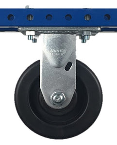 "5"" Polyolefin Rigid Plate Caster - 650 lb Weight Limit"