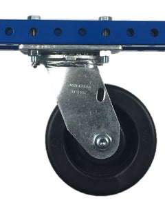 "5"" Polyolefin Swivel Plate Caster - 650 lb Weight Limit"