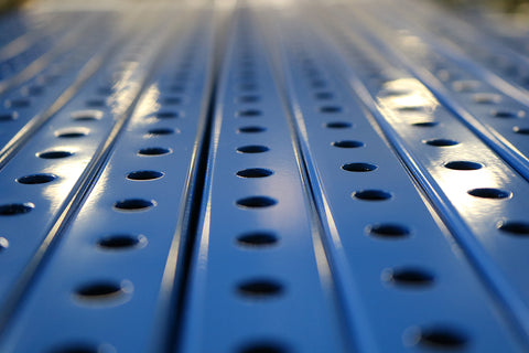 "1"" x  1"" Perforated Square Steel Tubing - Blue"