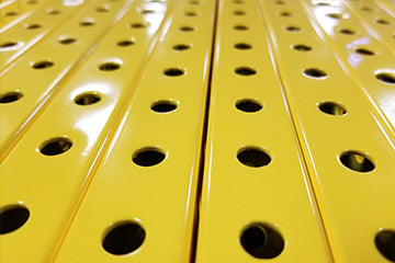 "1"" x  1"" Perforated Steel Tubing - Yellow"