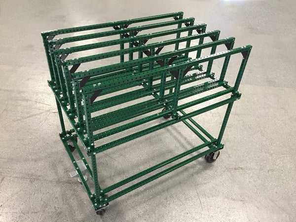 "1"" x  1"" Perforated Square Steel Tubing - Green Powder Coated                                 (100 feet minimum)"