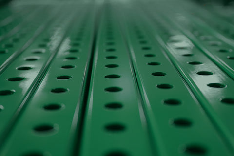 "1"" x  1"" Perforated Square Steel Tubing - Green"