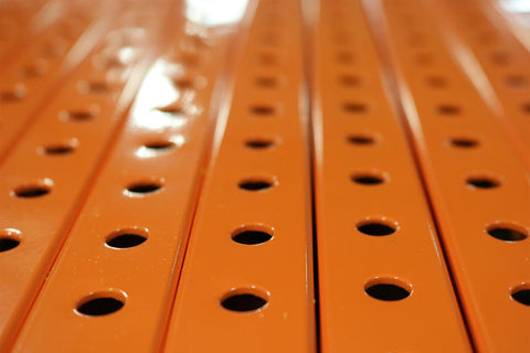 "1"" x  1"" Perforated Steel Tubing - Orange Powder Coated                                 (100 feet minimum)"