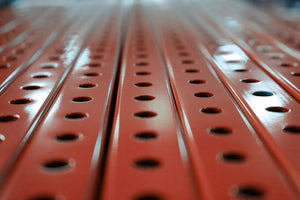 "1"" x  1"" Perforated Square Steel Tubing - Red"