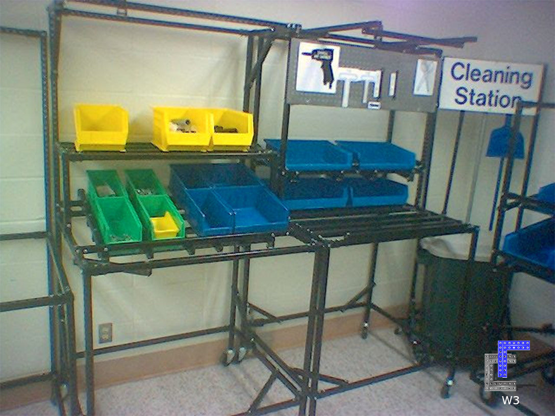 Workstation with Flow Rack
