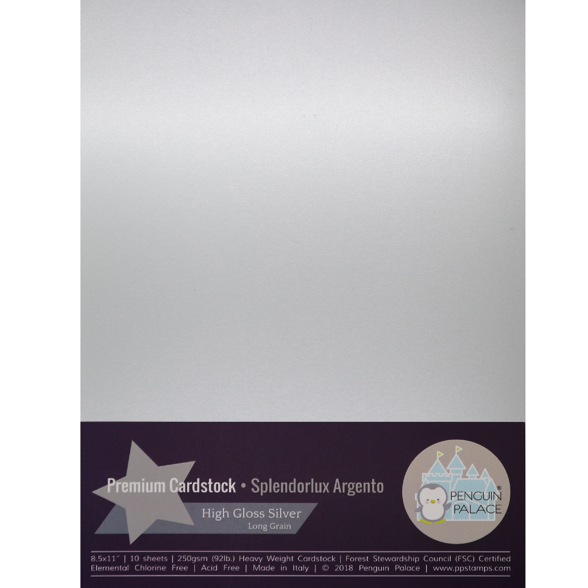 Splendorlux Argento - Heavy Weight Premium Cardstock