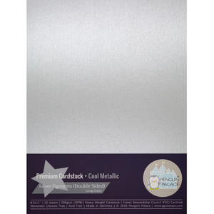Cool Metallic - Heavy Weight Premium Cardstock (Double-Sided)