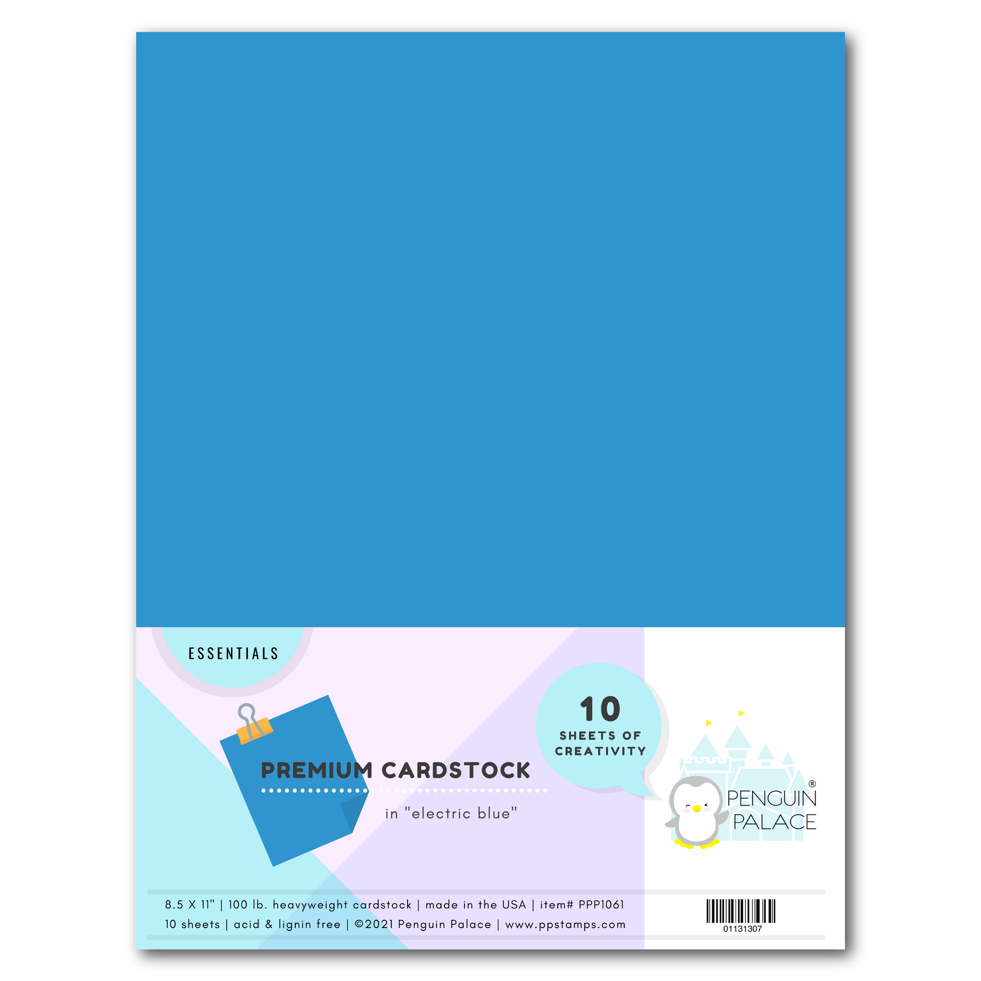 Electric Blue - Heavyweight Premium Cardstock