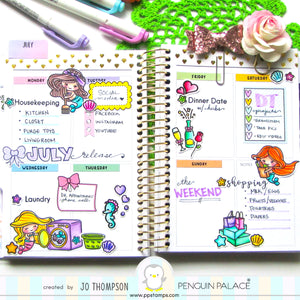 Pretty Mermaid Planner