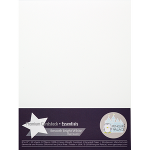 Essentials - Smooth Bright White 100lb. Heavy Weight Cardstock