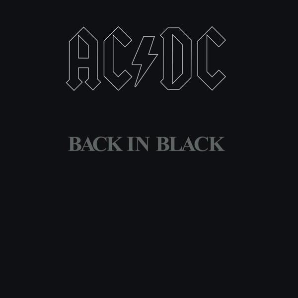 Back In Black on AC/DC bändin vinyyli LP.