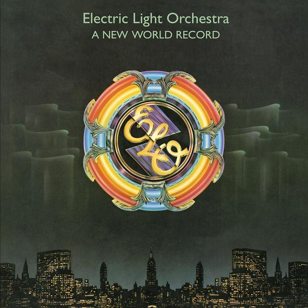 A New World Record on Electric Light Orchestra yhtyeen vinyyli LP.