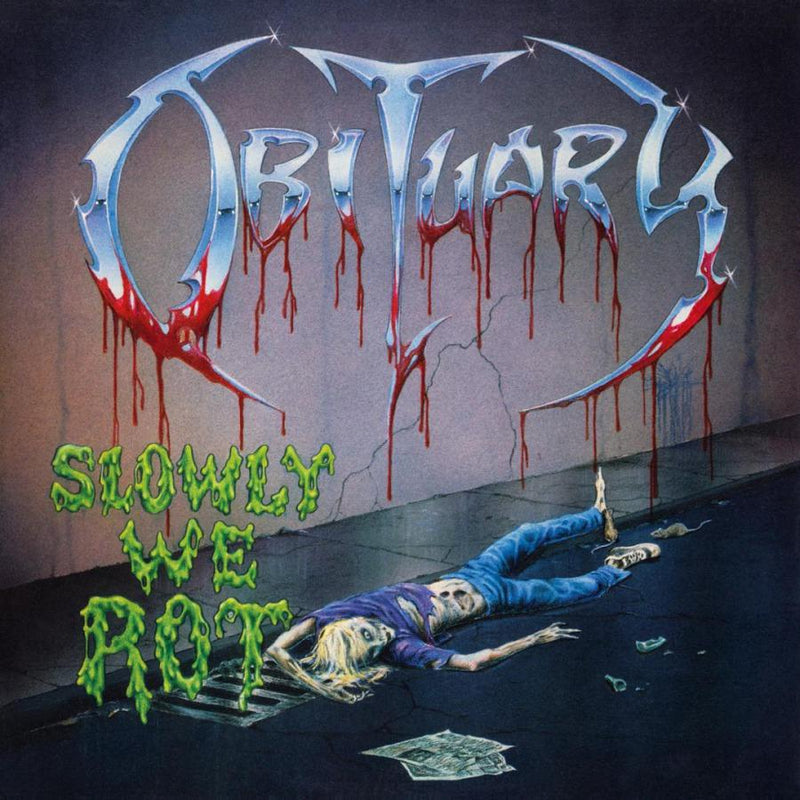 Obituary Slowly We Rot vinyylilevy