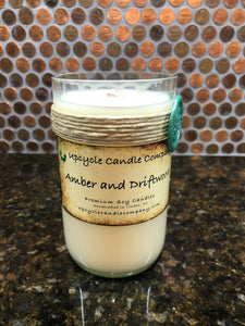 Amber and Driftwood Natural Soy Candle
