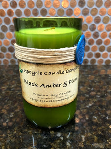 Black Amber and Plum Natural Soy Candle