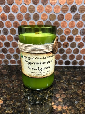 Peppermint and Eucalyptus Natural Soy Candle