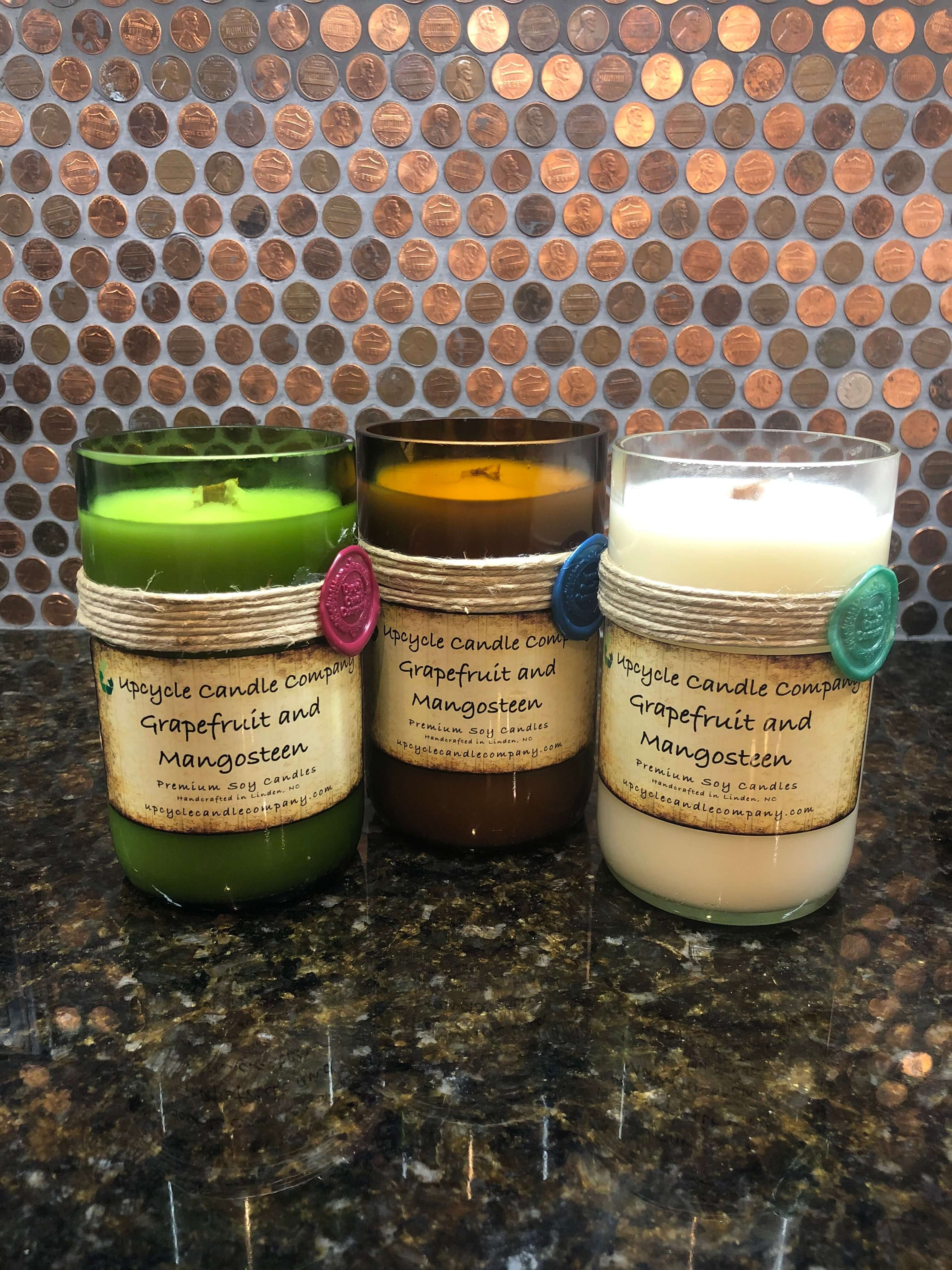 Grapefruit Mangosteen Natural Soy Candle