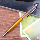 23 Colors Crystal Ballpoint Pen Fashion Creative Stylus Touch Pen for Writing Stationery Office & School Pen Ballpen ink Black