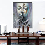 OKHOTCN Buddha  Motivational  Art Carving  Canvas Figure  Unframed Posters Buddhism Print For Living Room Study