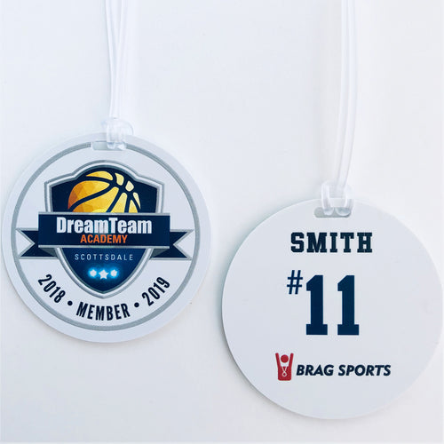 Team Bag Tags - Jersey #