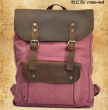 Backpack Leather Canvas VintaGE - Far Far Travel