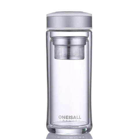Glass Water Bottle Stainless Steel With Tea Filter
