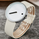 Minimalist Watch Leather Dot & Line - Far Far Travel