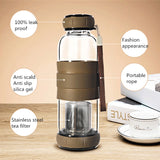 Water Bottle With Tea Infuser with silicon handle