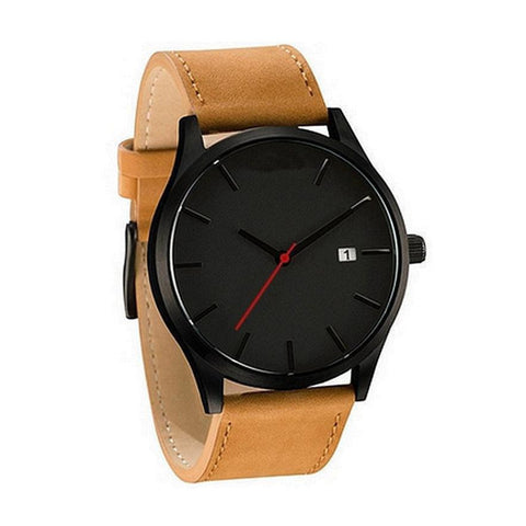 Leather Round Watch - Far Far Travel