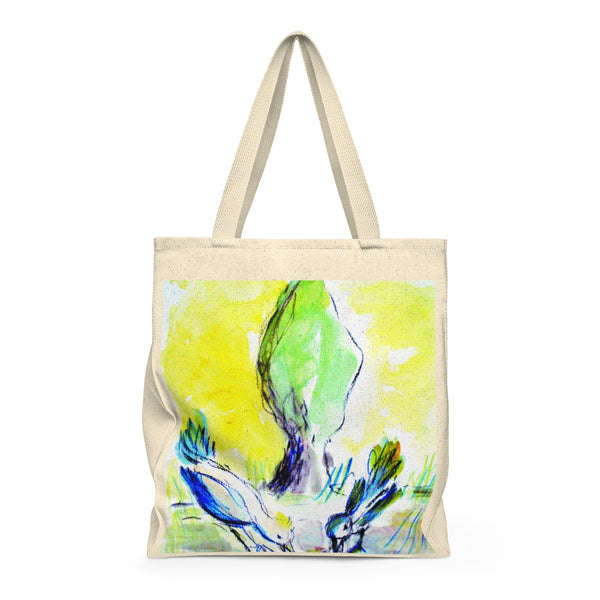 """Sparrows and Cyprus Tree"" Tote Bag"
