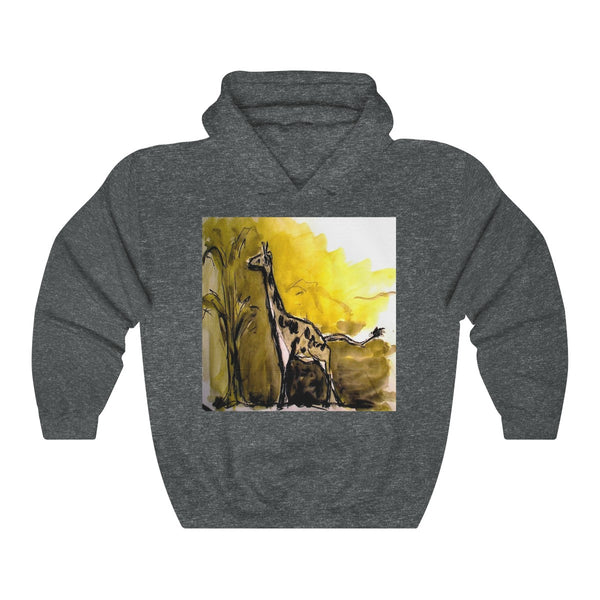 """Giraffe - watercolor, and charcoal on paper"" Hoodie"