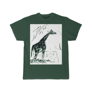 """Charcoal Giraffe on Newsprint"" T-Shirt"