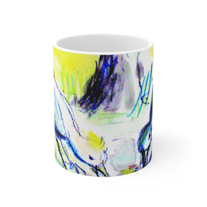 """Sparrows and Cyprus Tree"" Mug"