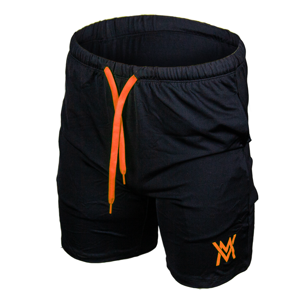VON MOGER PREMIUM ATHLETIC SHORTS [NEON ORANGE/BLACK]