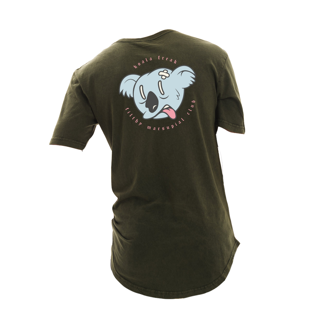 Koala Freak Filthy Marsupial Scoop Long Tee [Olive]