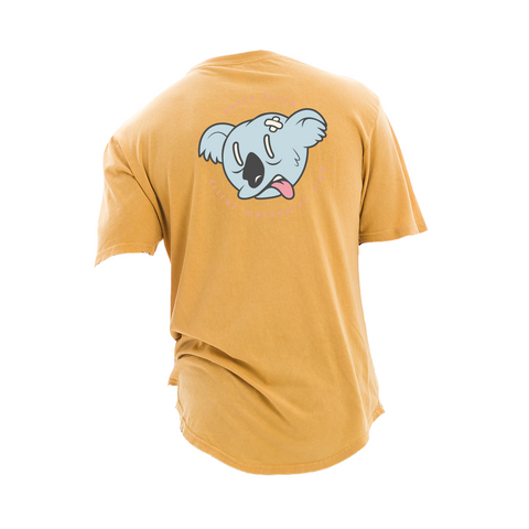 Koala Freak Filthy Marsupial Scoop Long Tee [Mustard]