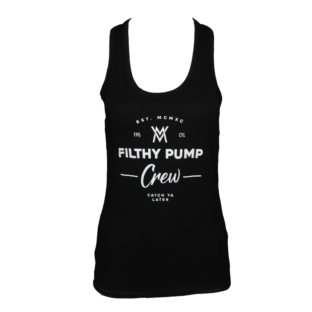 Filthy Pump Crew Triblend Women's Tank [Black]