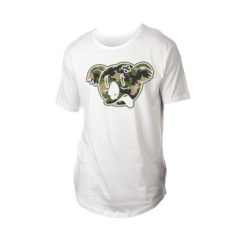 Koala Freak Camo Drop Tail Shirt [White]